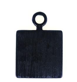 Mini Square Black Mango Wood Board with Handle