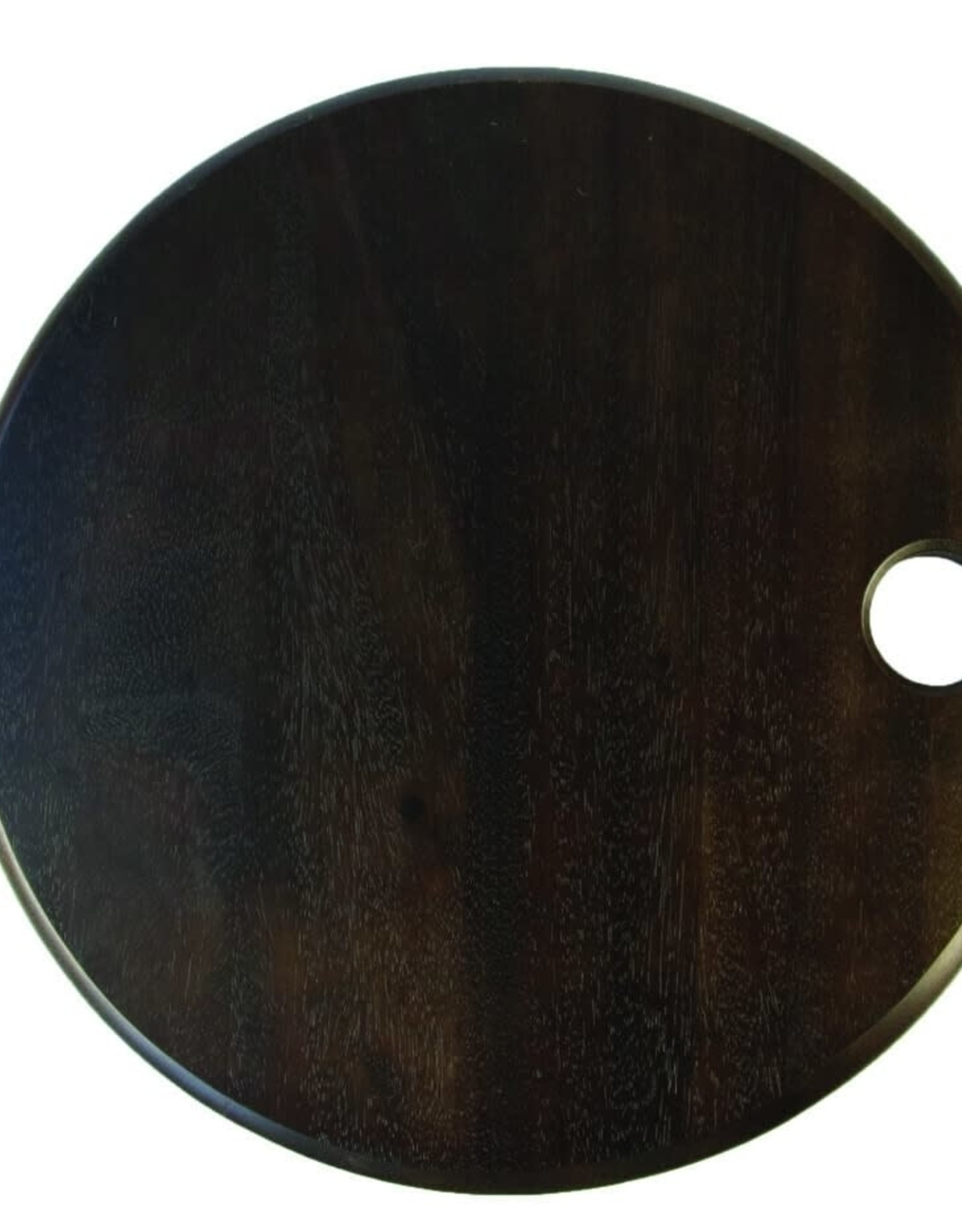 """Round Black Cheese Board 14.5""""D"""
