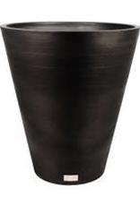 "Large Black Plastic Kobo Planter D19.5""  H22"""