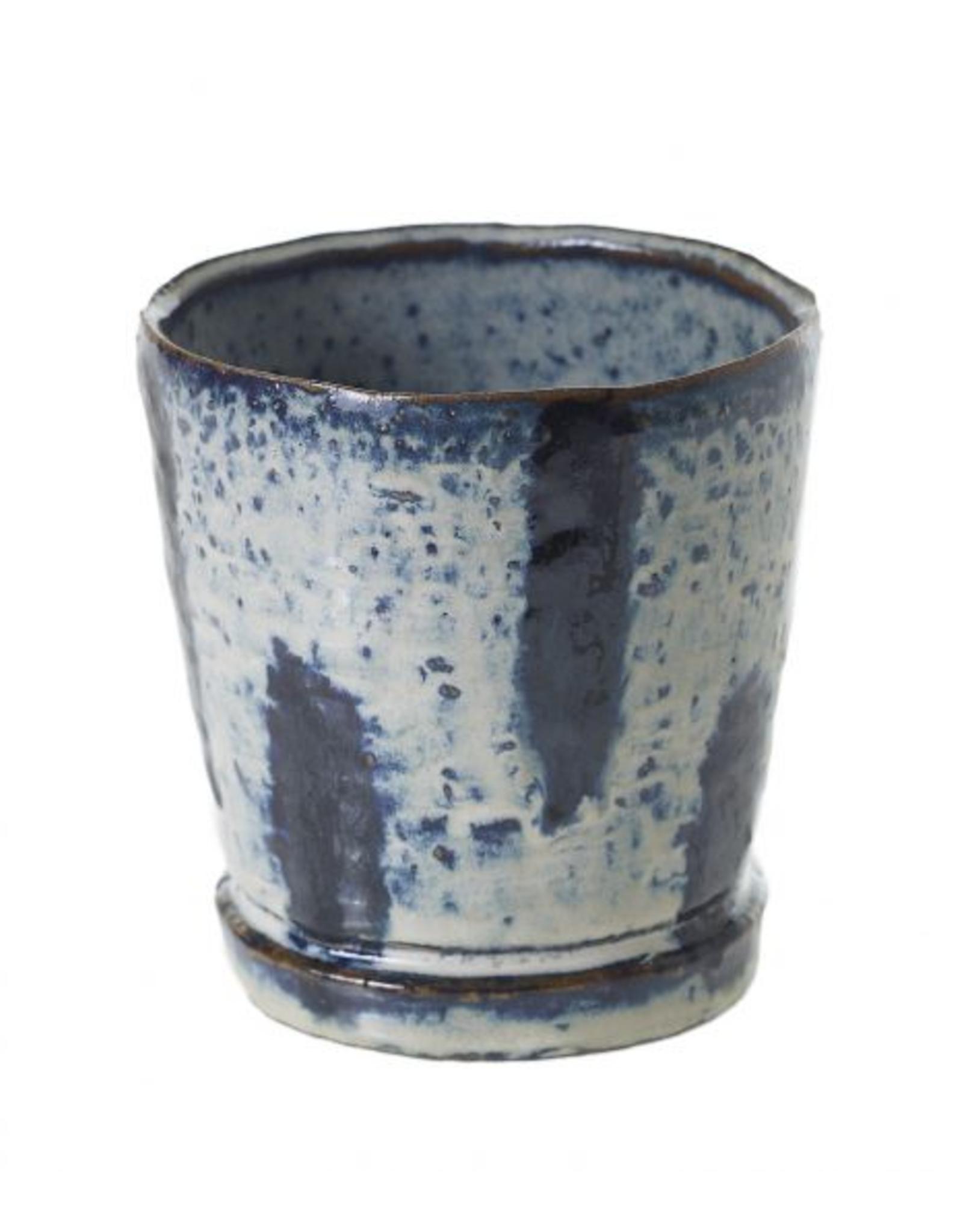 "Blue Tide Pot 3.75 x 4"""