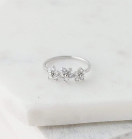 Blossom Ring Size 8 - Silver