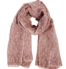 Dusty Rose Dobby Scarf
