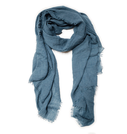 Scarf Frayed Teal
