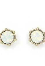 Astrid Earrings - White Opal