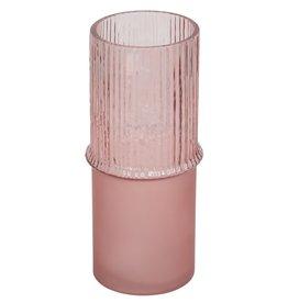 "Pink Tivoli Glass Cylinder H12"""