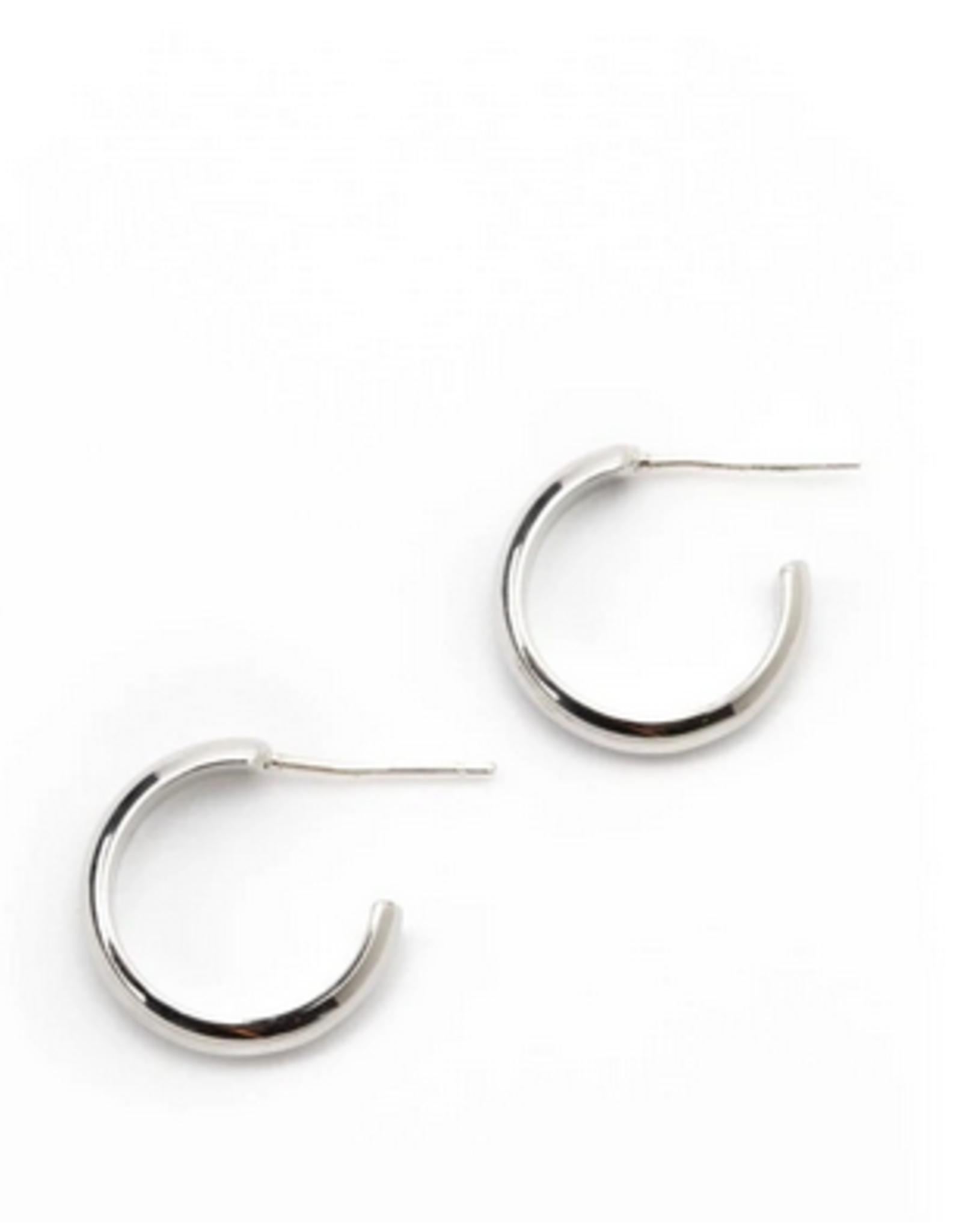 Silvia Hoop Earrings - Silver