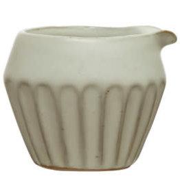 Matte White Stoneware Creamer 4oz