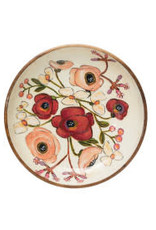 """Enamel Acacia Wood Bowl with Floral Pattern D8"""""""