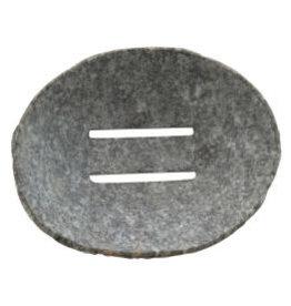 "Natural Stone Soap Dish D4.5"""