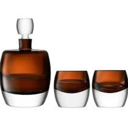 Peat Brown Whiskey Tumbler  230ml Set of 2