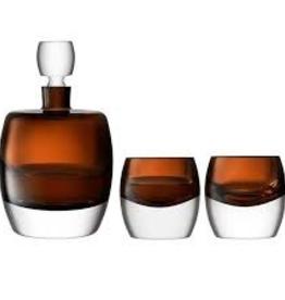 Peat Brown Whisky Tumblers  230ml Set of 2