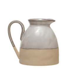 "Reactive Glaze Stoneware Creamer H3.5"""