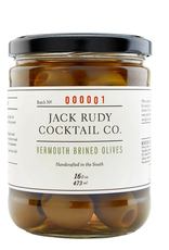 Jack Rudy Vermouth Brined Olives 16 oz.