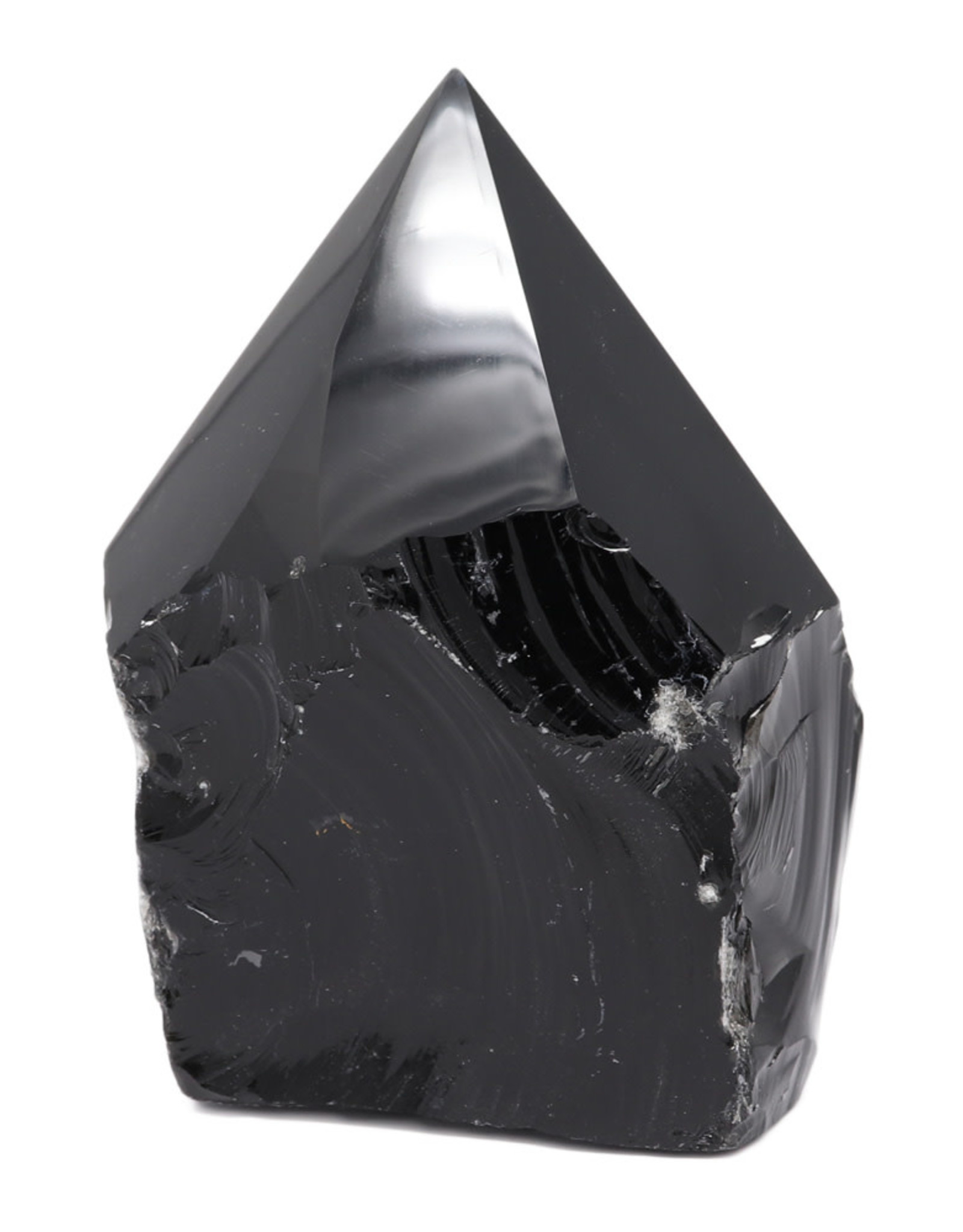 Black Obsidian Polished Point with Base