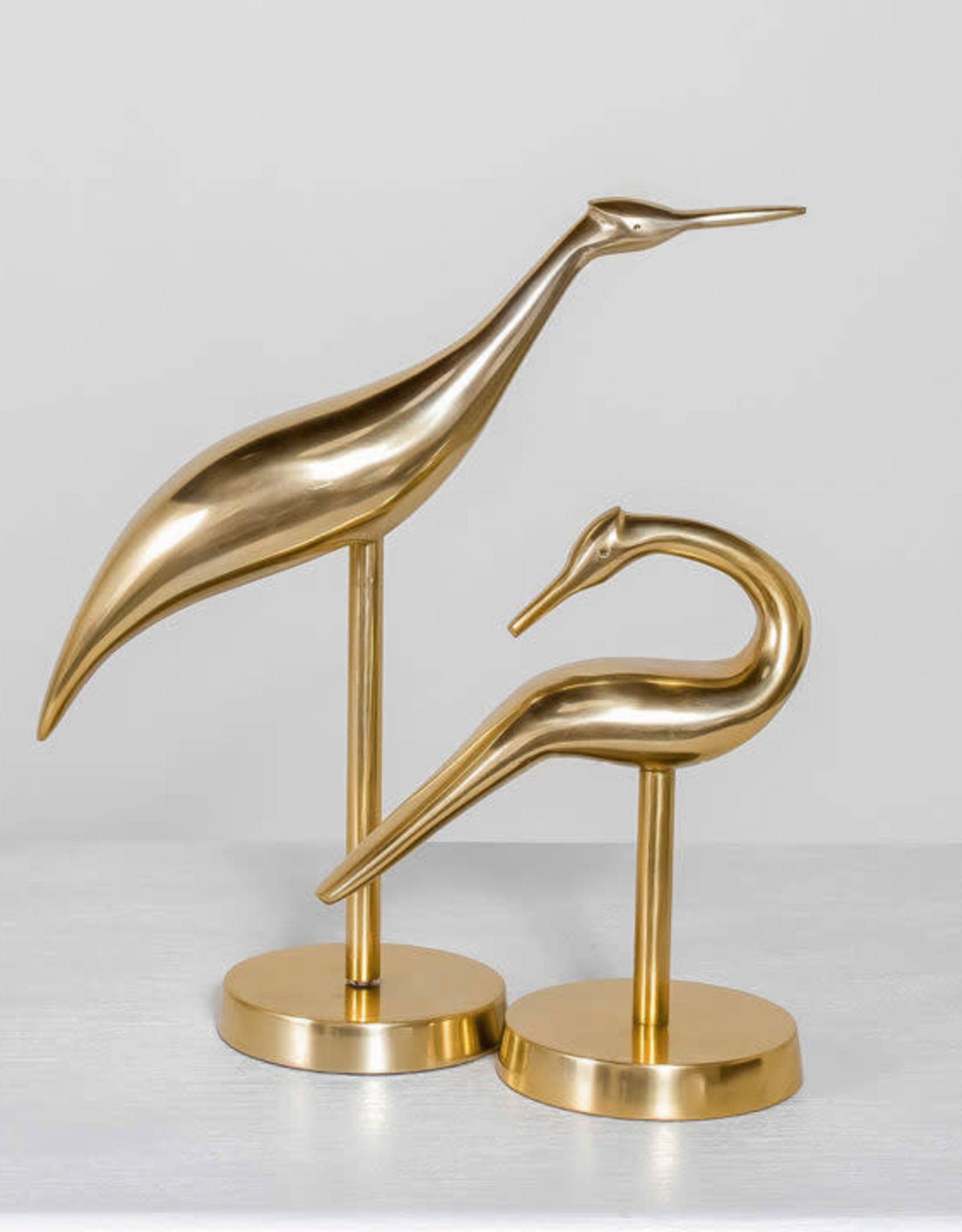 Gold Herons Set of 2
