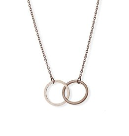 Double Circle Eternity Necklace - Gold