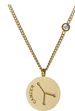 Gold Cancer Necklace