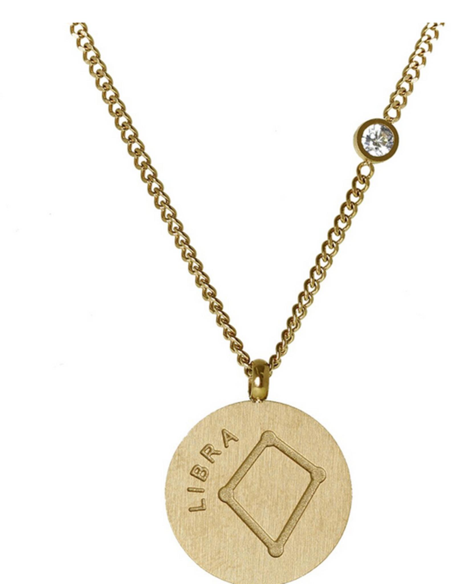 Gold Libra Necklace