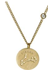 Gold Pisces Necklace
