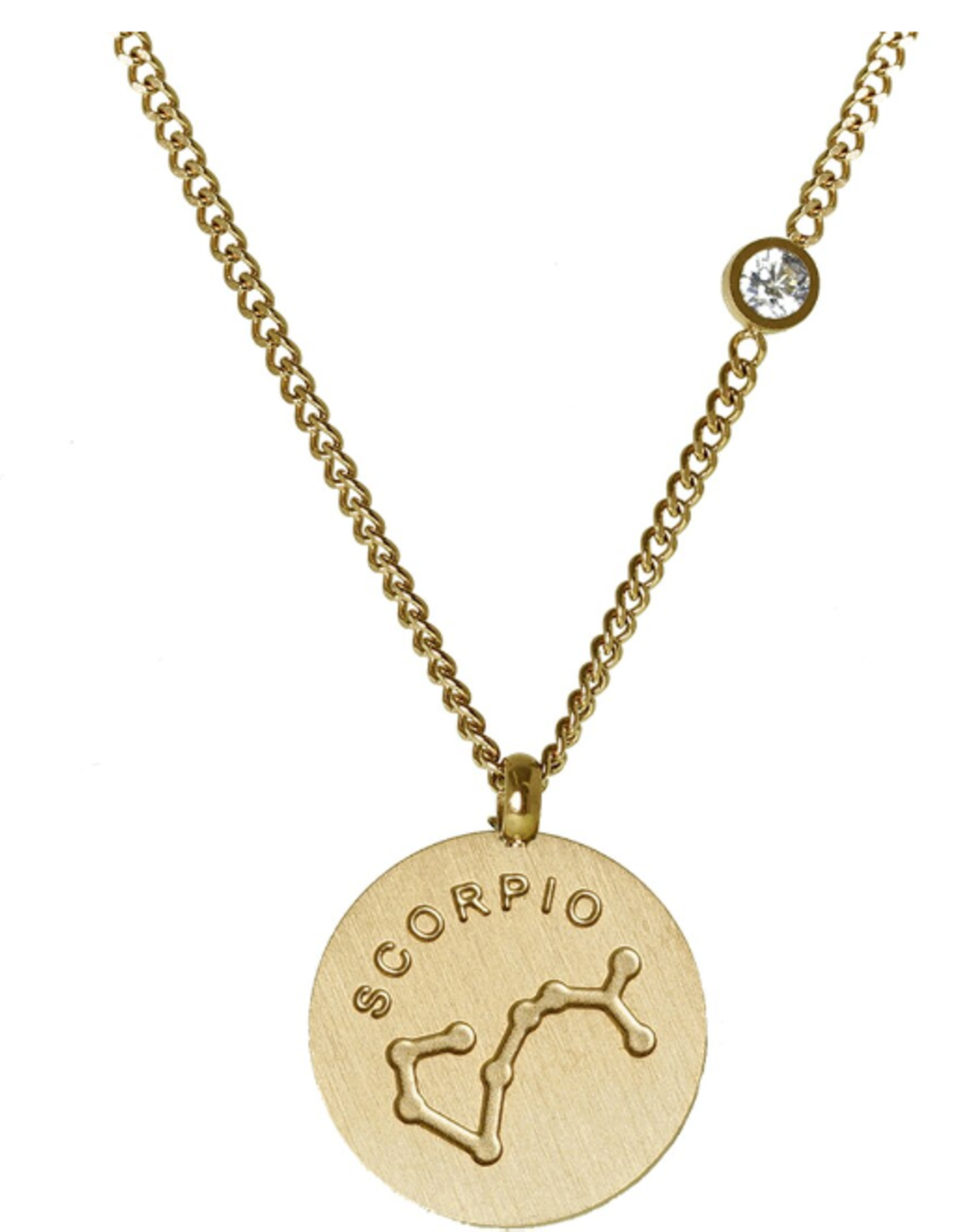 Gold Scorpio Necklace