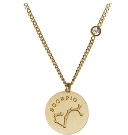 Gold Scorpio Necklace