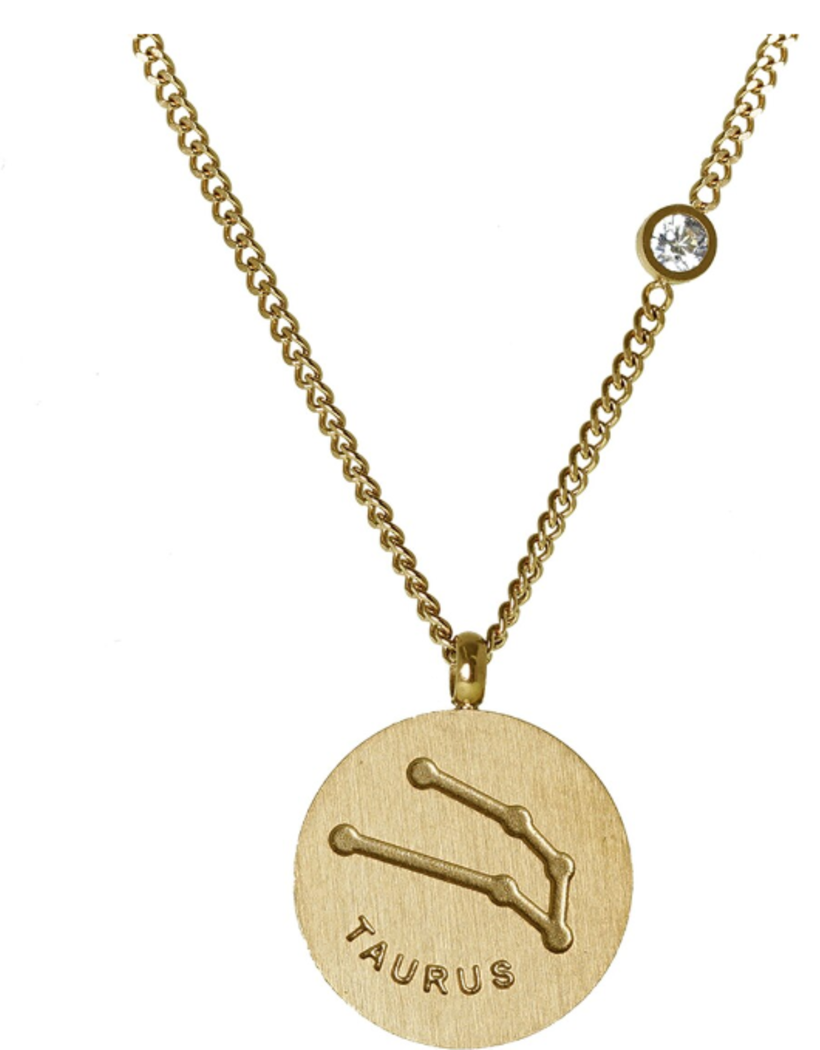 Gold Taurus Necklace