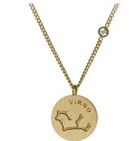 Gold Virgo Necklace