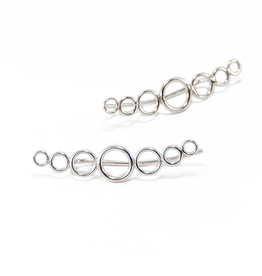 Sterling Silver Large Circlet Ear Crawlers 27mm