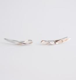 Sterling Silver Twist Ear Crawlers 23mm