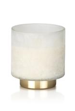 Cortina Tobacco Flower Candle White Jar