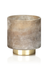 Cortina Tobacco Flower Candle Taupe Jar