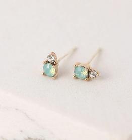 Dolce Stud Earrings - Pacific Opal