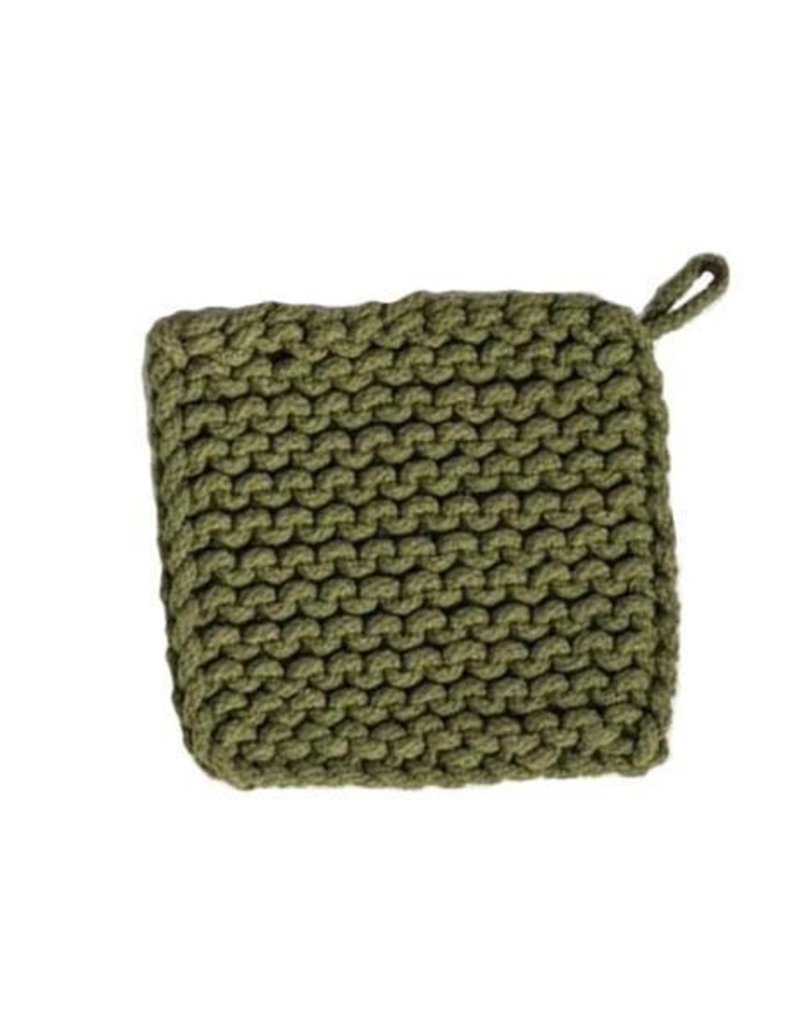 Jade Knit Pot Holder