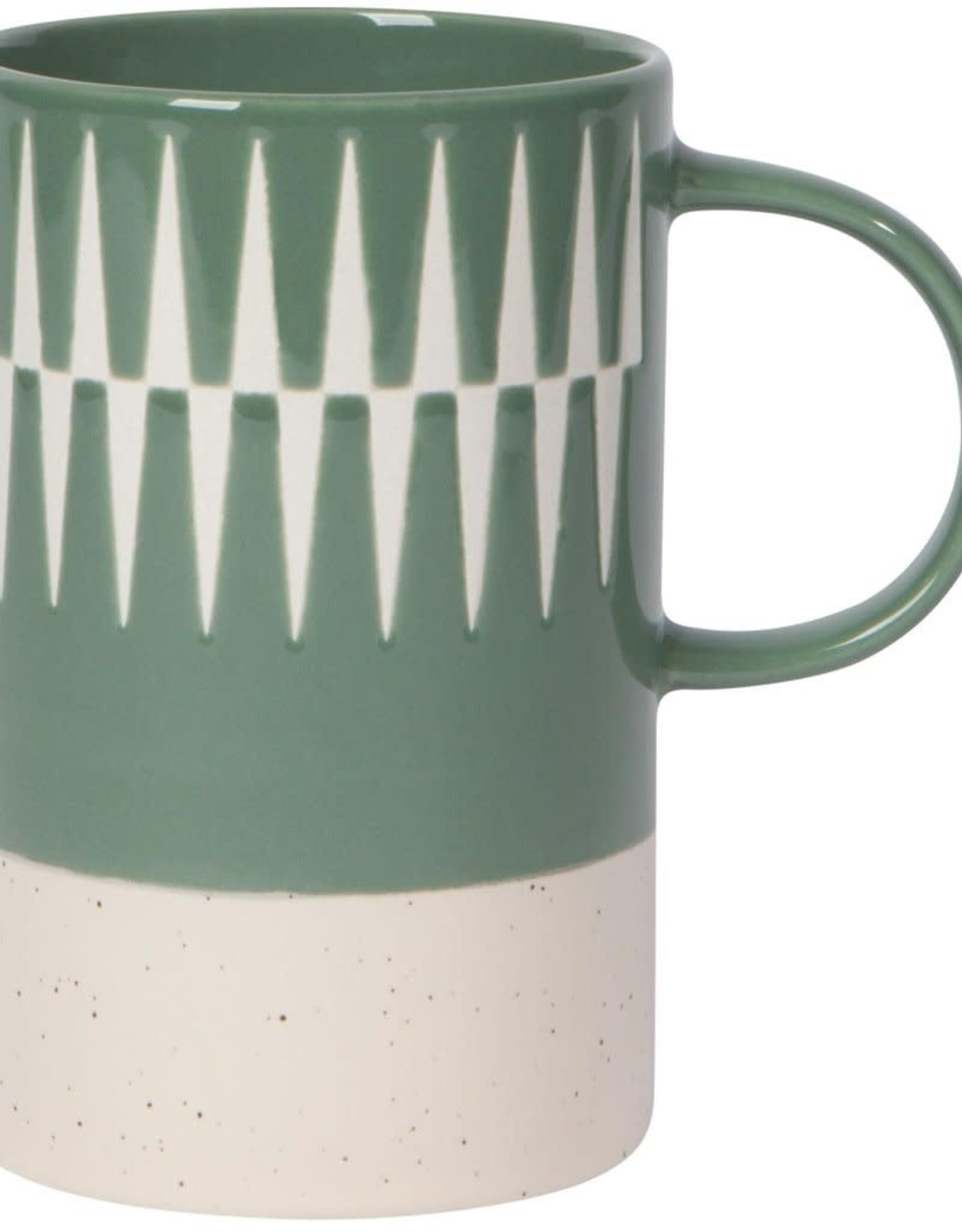 Etched Jade Mug