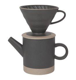 Matte Black Pour Over Coffee Set