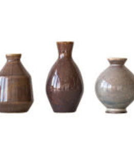 Reactive Glaze Vase 3 Assorted Styles
