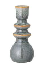 Blue / Brown Stoneware Taper Holder