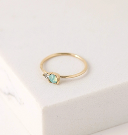 Dolce Ring Size 6 - Pacific Opal