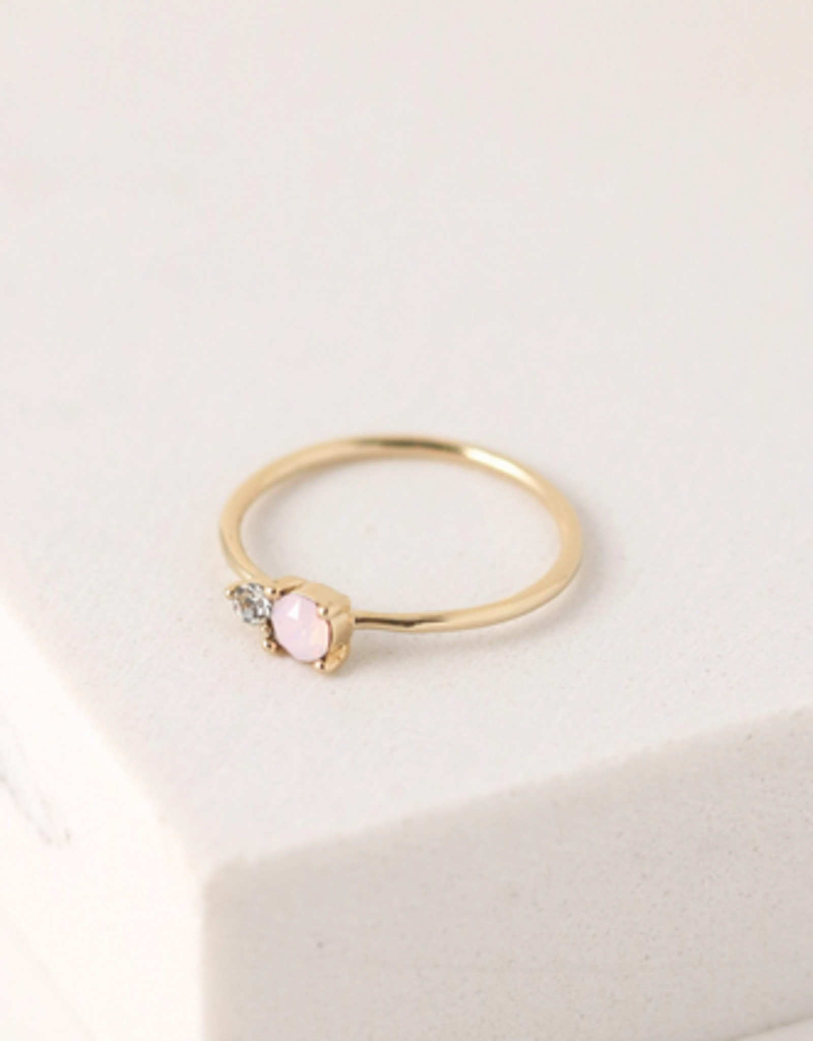 Dolce Ring Size 6- Pink Opal