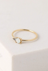 Dolce Ring Size 6 - White Opal