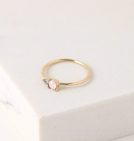 Dolce Ring Size 8- Pink Opal