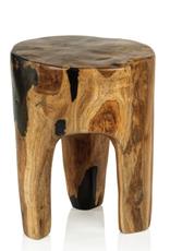 Balu Rucu Wood Round Stool