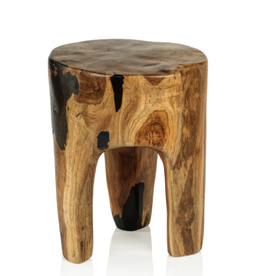 Balu Rucu Wood Round Stool
