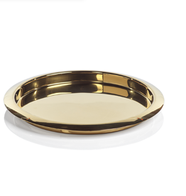 Stainless Steel Gold Round Serving Tray