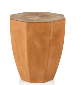 San Jaun Concrete Stool - Terracotta