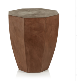 San Juan Concrete Stool - Brown