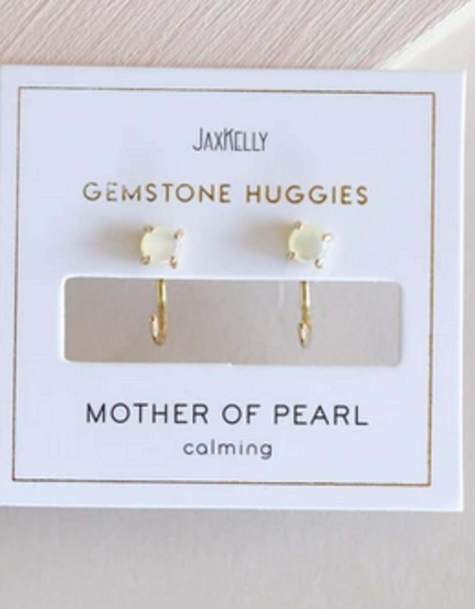 Huggie Earrings - Mother of Pearl