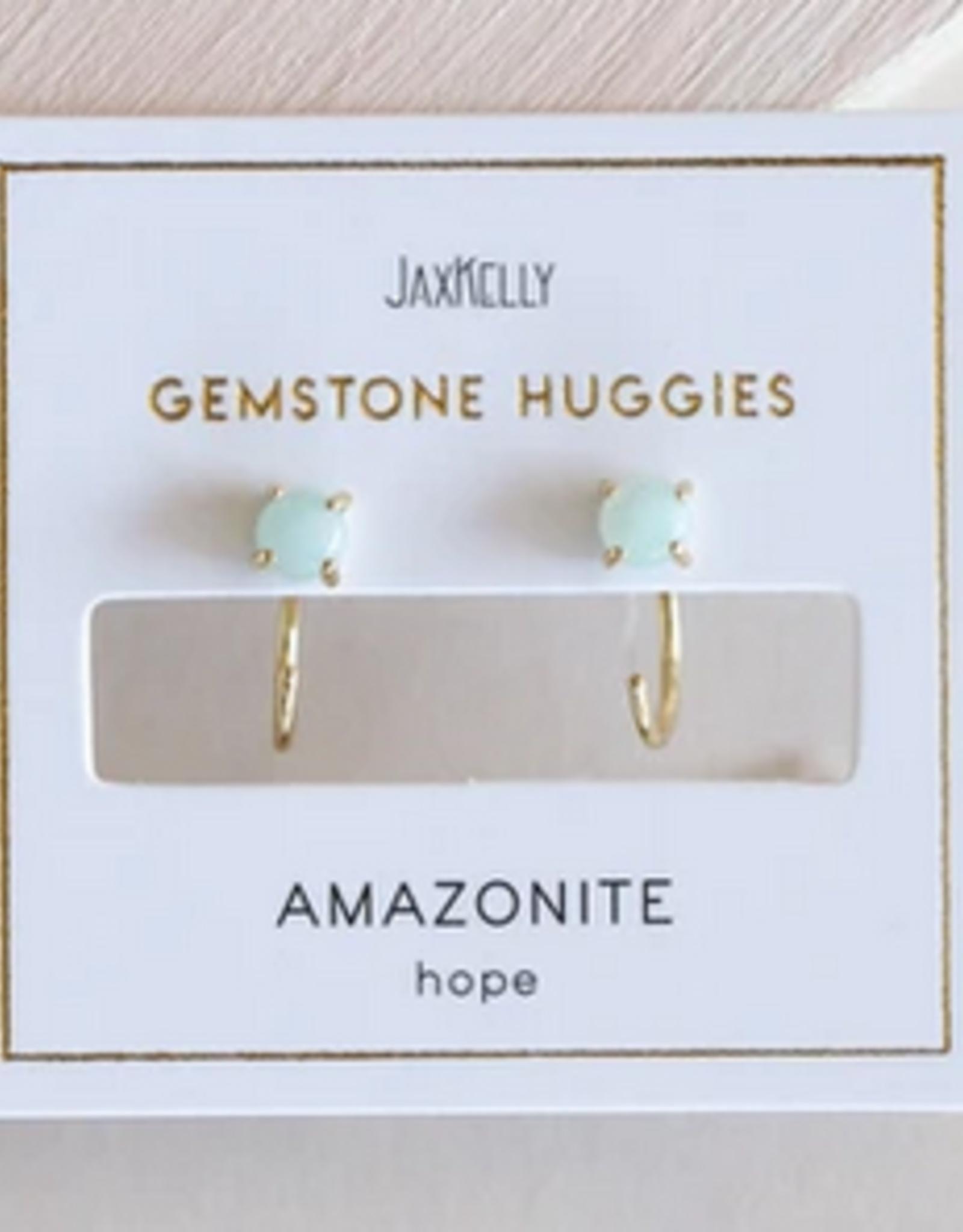 Huggie Earrings - Amazonite