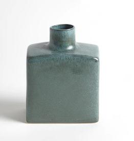 """Sea Mist Large Short Stack Bottle  H 8"""" W 4"""" L 6.5"""""""