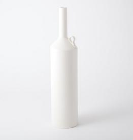 "Large Matte White Metro Bottle H 19.5"" D 5"""